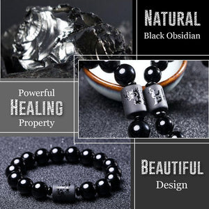 Anti-Swelling Black Obsidian Bracelet