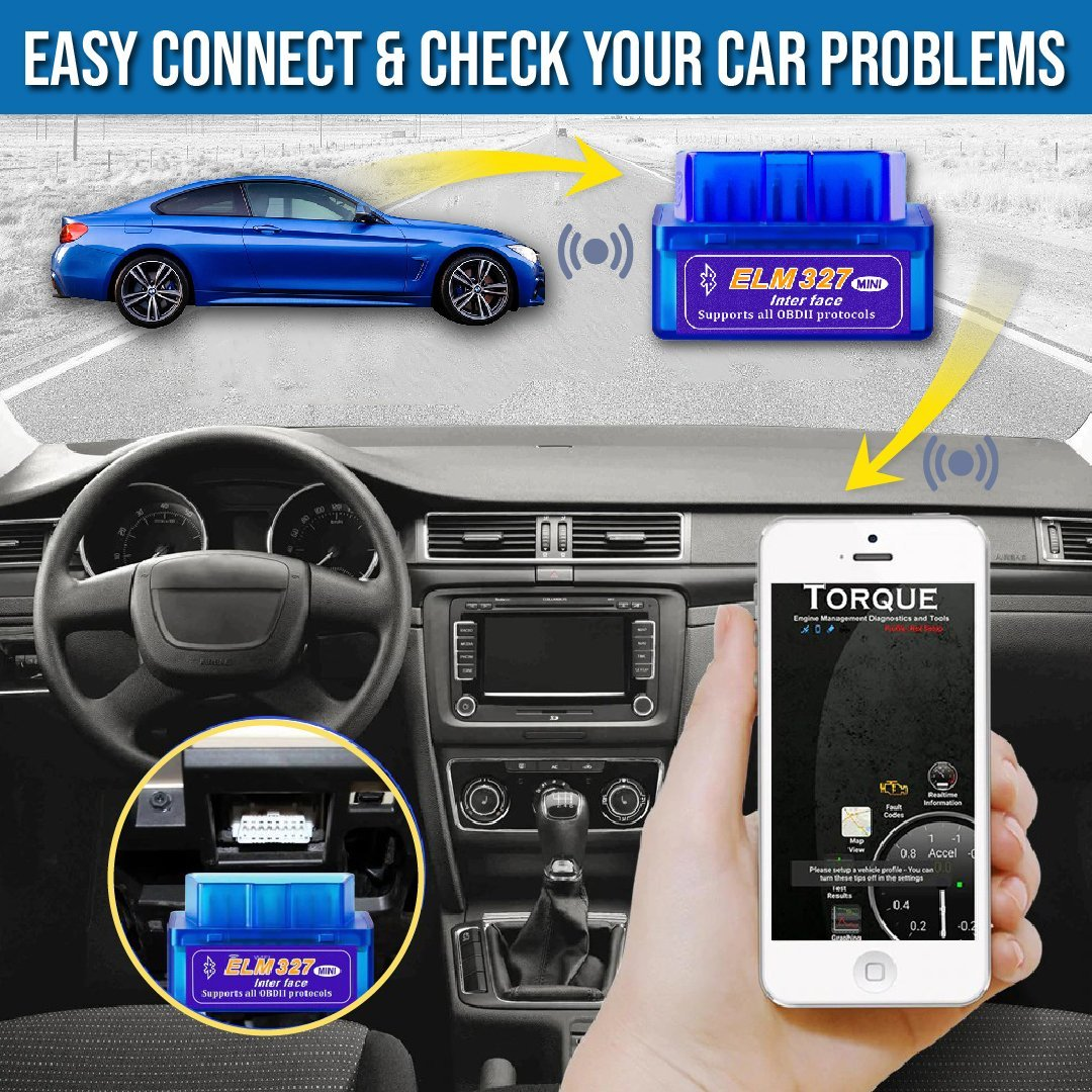 Bluetooth OBD2 Car Scanner