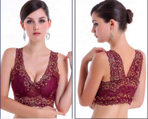 Extra Breathable Floral Lace Bra