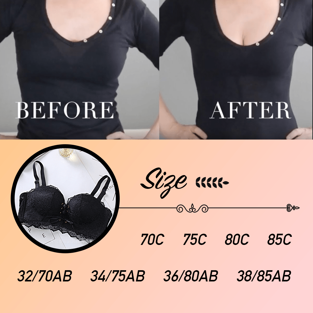 Corset-Style Wireless Push Up Bustier