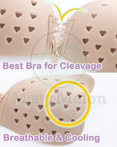 Front Zipper Breathable Perforated Invisible Bra