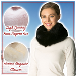 Load image into Gallery viewer, Magnetic Fluffy Fur Muffler