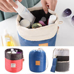 Load image into Gallery viewer, Barrel Travel Drawstring Cosmetic Bag