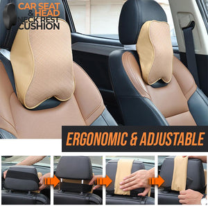 Car Seat Head and Neck Rest Cushion