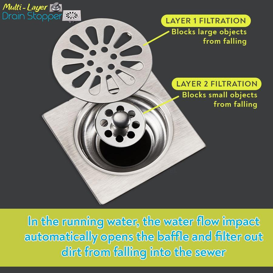 Multi-Layer Drain Stopper