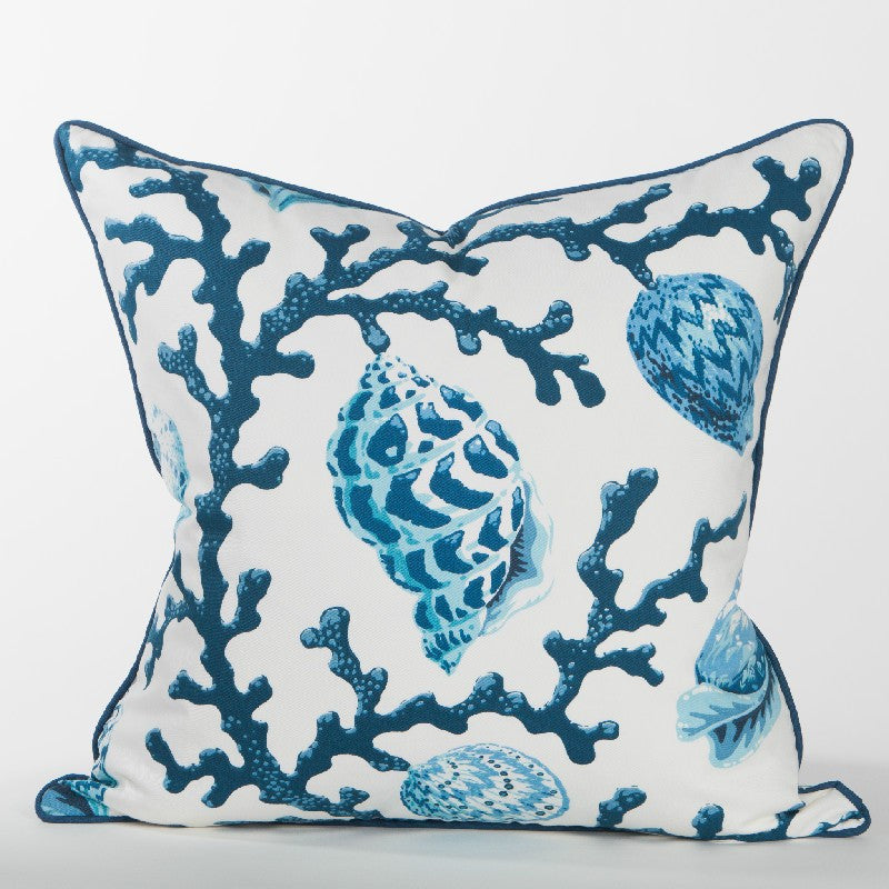 Casuarina Coral Pillow (Navy) - Newport Collection