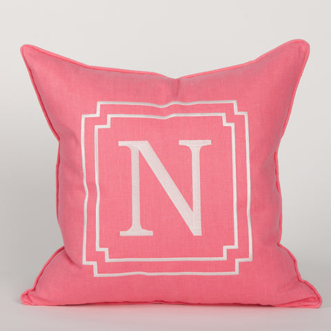 Monogram Pillow in Pink