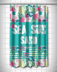 Sea Sun Sand Shower Curtain