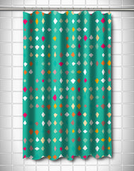 Diamonds Confetti Shower Curtain