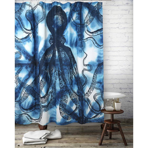 Octopus Shibori Shower Curtain