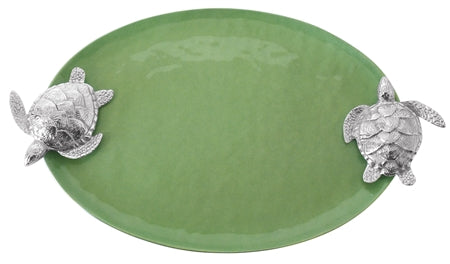 Green Sea Turtle Handled Serving Tray