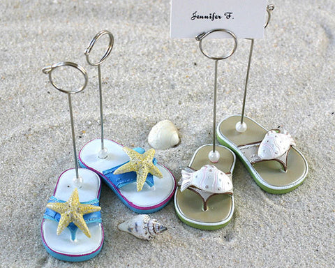 Beachcombers Flip Flop Placecard Holders - Set of 4 (2 pairs)- Discontinued