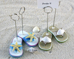 Beachcombers Flip Flop Placecard Holders - Set of 4 (2 pairs)- Limited Stock