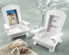 Beach Memories Miniature Adirondack Chair Place Card/Photo Frame (Set of 4)