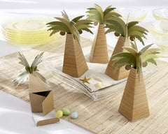Palm Tree Favor Box with Multi-dimensional Detail (Set of 24)