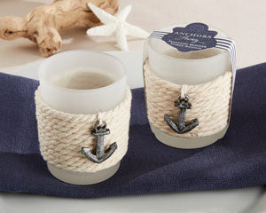 Anchor's Away Rope Tealight Holder (Set of 4)