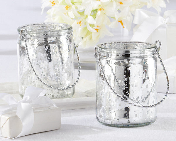 Silver Light Mercury Glass Tea Light Holders- Set of 12- DISCONTINUED, LIMITED STOCK!