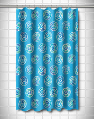 Nautilus Shell Sketch Shower Curtain