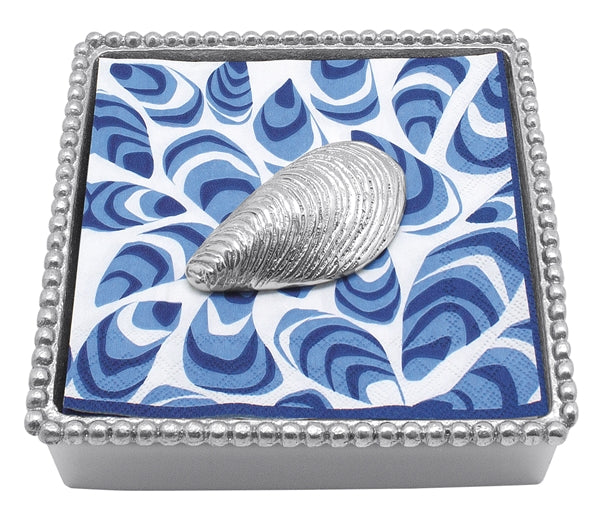 Mussel Beaded Napkin Holder