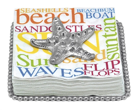 Starfish Beaded Napkin Plate