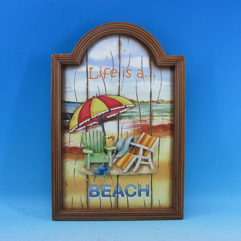 Wooden Life is a Beach Wall Plaque 18