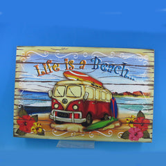 Wooden Life is a Beach Wall Plaque 24