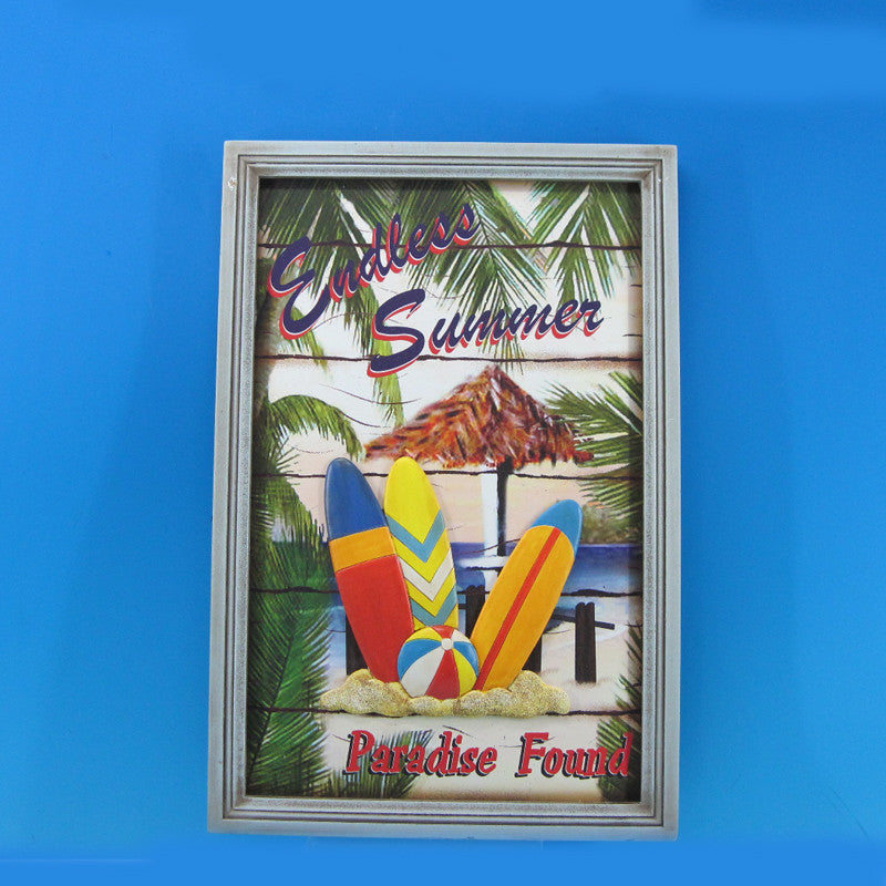 Wooden Paradise Found Surf Plaque 18
