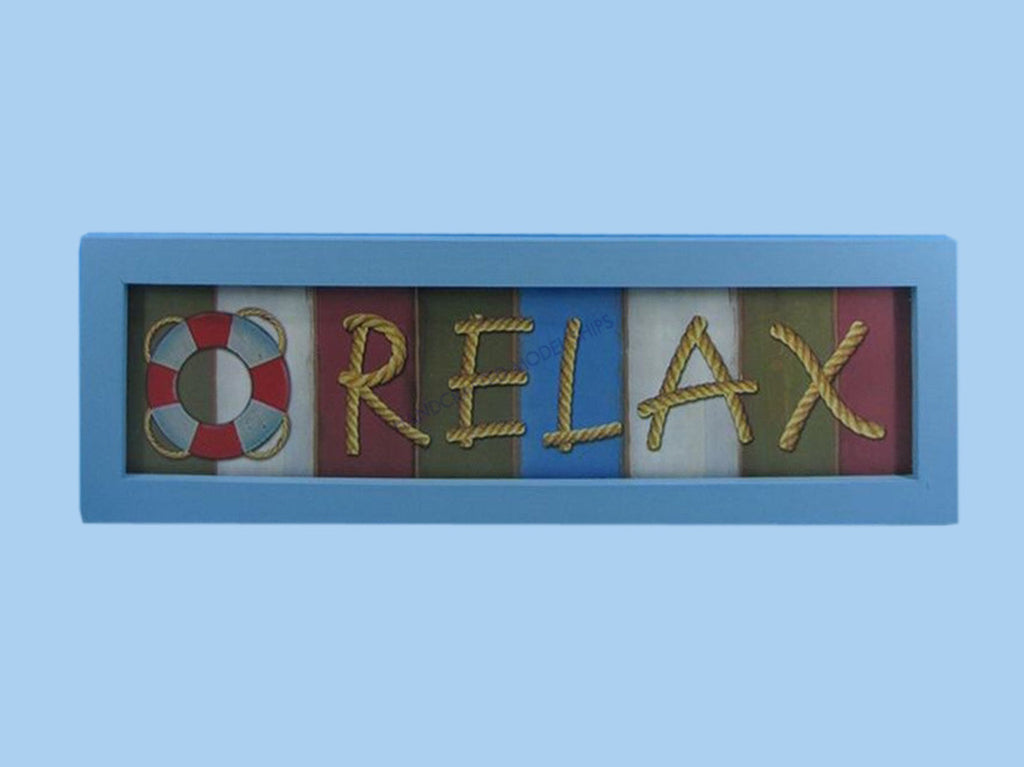 Wooden Relax Nautical Plaque 24