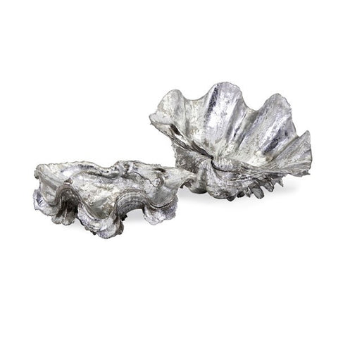 Sanibel Silver Shell Bowls - Set of 2