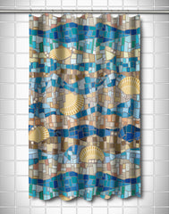 Shell Mosaic Shower Curtain