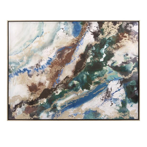 Seamus Marbleized Framed Wall Art