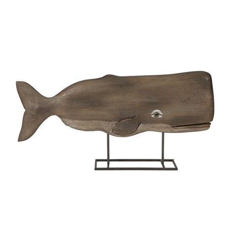 Achilles Carved Wood Whale Statuary