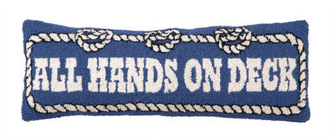 All Hands on Deck Hook Pillow