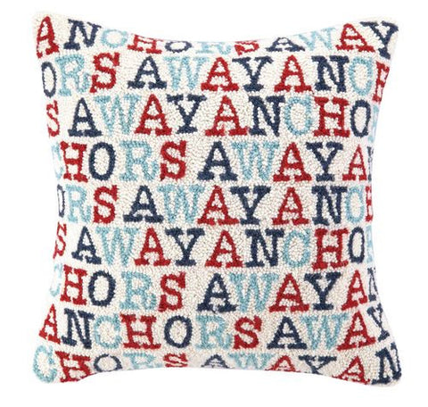 Anchors Away Hook Pillow