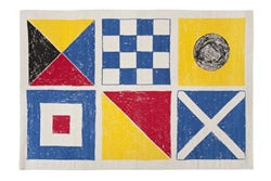 Flags Sketch Bath Mat - Multi