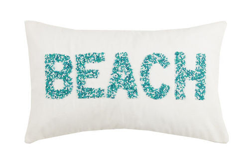 Beaded 'Beach' Pillow