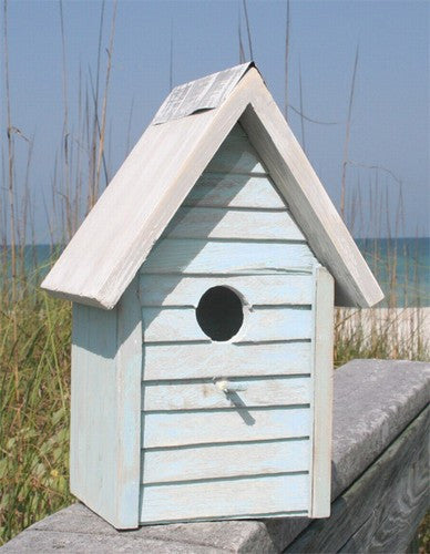 Beach Cottage Birdhouse- Light Blue