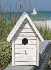Beach Cottage Birdhouse- White