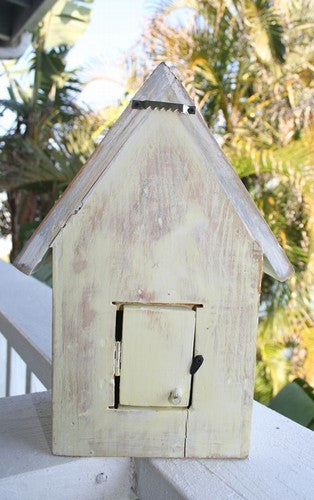 Beach Cottage Birdhouse- Yellow