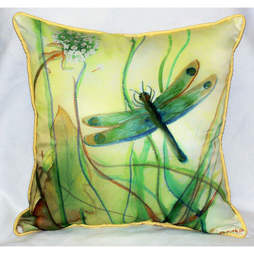 Betsy Drake Dragonfly Pillow- Indoor/Outdoor
