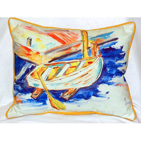Betsy Drake Betsy's Row Boat Pillow- Indoor/Outdoor