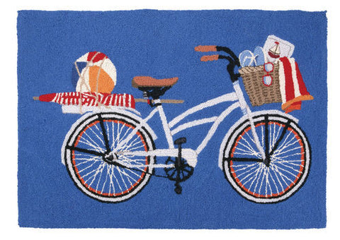 Bike Beach Hook Rug