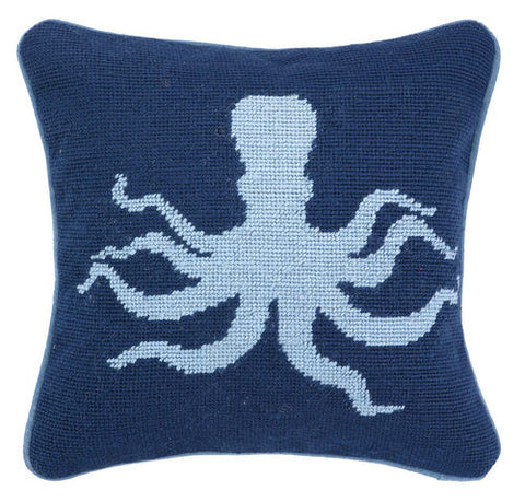 Octopus Needlepoint Pillow