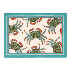 Blue Crab Rug- Accent