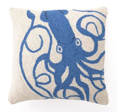 Blue Squid Hook Pillow
