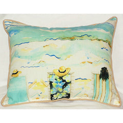 Betsy Drake Bottoms Up Again Pillow- Indoor/Outdoor