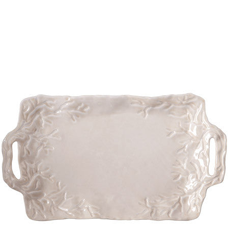 Corallo Sand Handled Rectangular Platter- Retired- Limited Stock