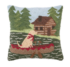Canoeing Lab Hook Pillow