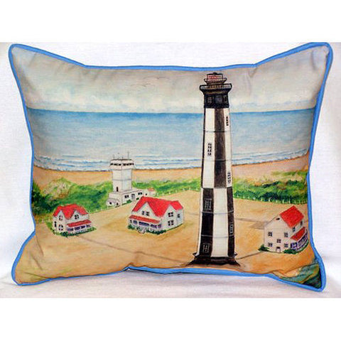 Betsy Drake Cape Henry Lighthouse Pillow- Indoor/Outdoor