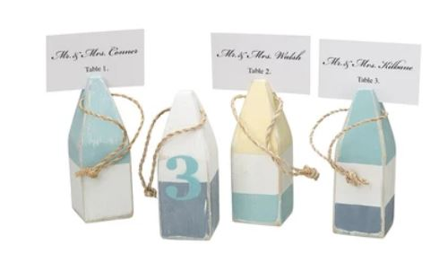 Buoy Place Card Holder Set - Pastel Assortment